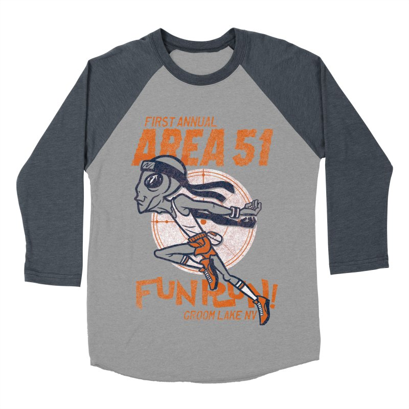 Area 51 Fun Run! Men's Baseball Triblend Longsleeve T-Shirt by Gimetzco's Damaged Goods