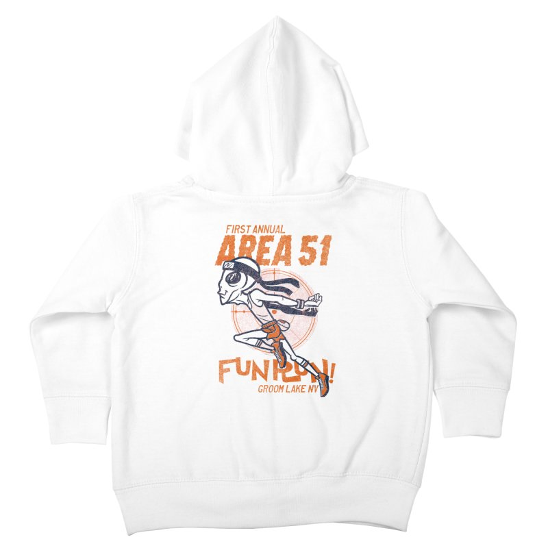 Area 51 Fun Run! Kids Toddler Zip-Up Hoody by Gimetzco's Damaged Goods