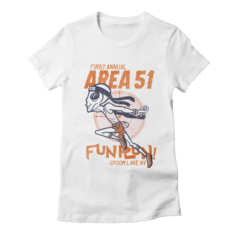 Area 51 Fun Run! Women's Fitted T-Shirt by Gimetzco's Damaged Goods