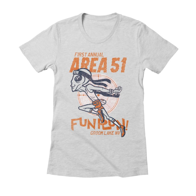 Area 51 Fun Run! Women's Fitted T-Shirt by Gimetzco's Damaged Goods