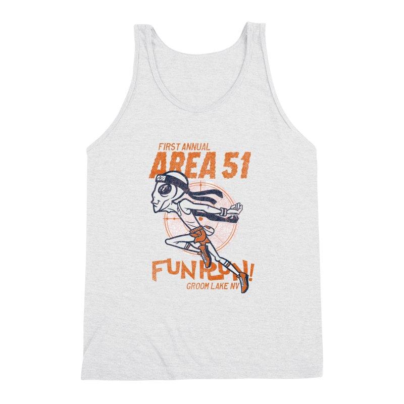 Area 51 Fun Run! Men's Triblend Tank by Gimetzco's Damaged Goods
