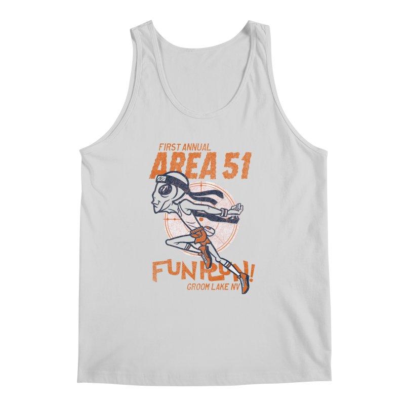 Area 51 Fun Run! Men's Regular Tank by Gimetzco's Damaged Goods