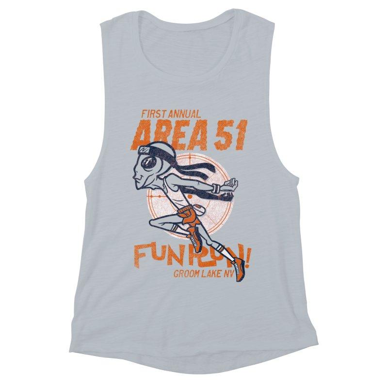 Area 51 Fun Run! Women's Muscle Tank by Gimetzco's Damaged Goods