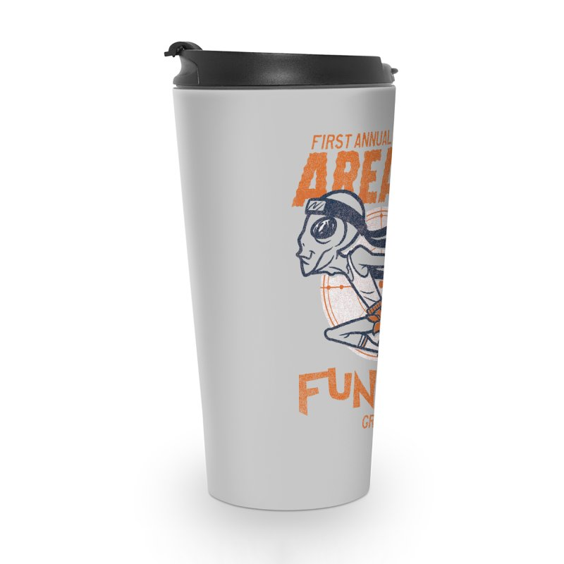 Area 51 Fun Run! Accessories Travel Mug by Gimetzco's Damaged Goods