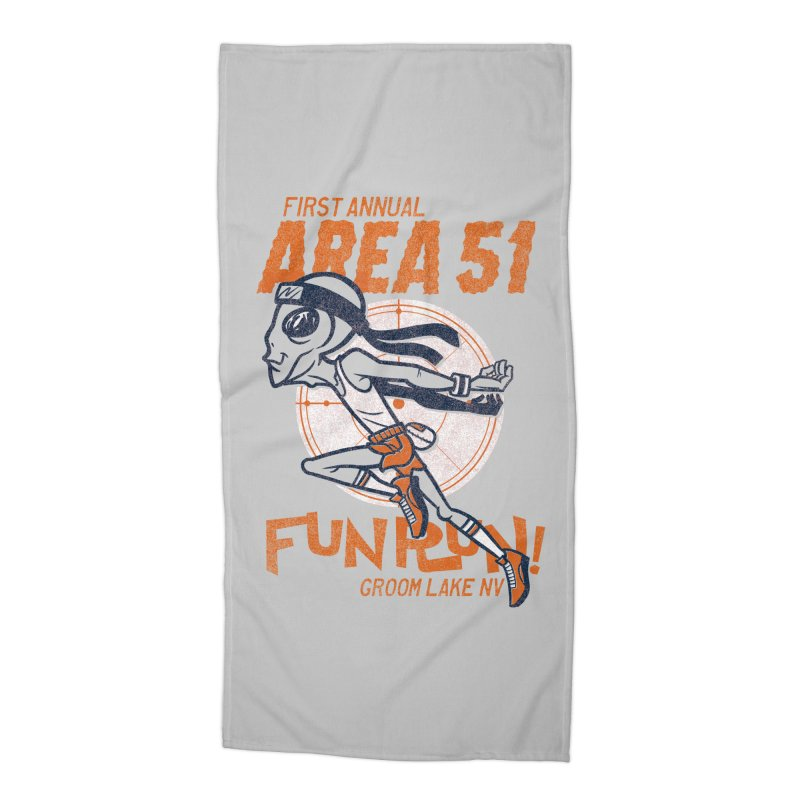Area 51 Fun Run! Accessories Beach Towel by Gimetzco's Damaged Goods