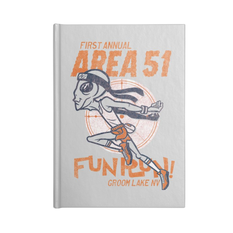 Area 51 Fun Run! Accessories Lined Journal Notebook by Gimetzco's Damaged Goods