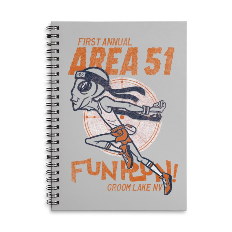Area 51 Fun Run! Accessories Lined Spiral Notebook by Gimetzco's Damaged Goods