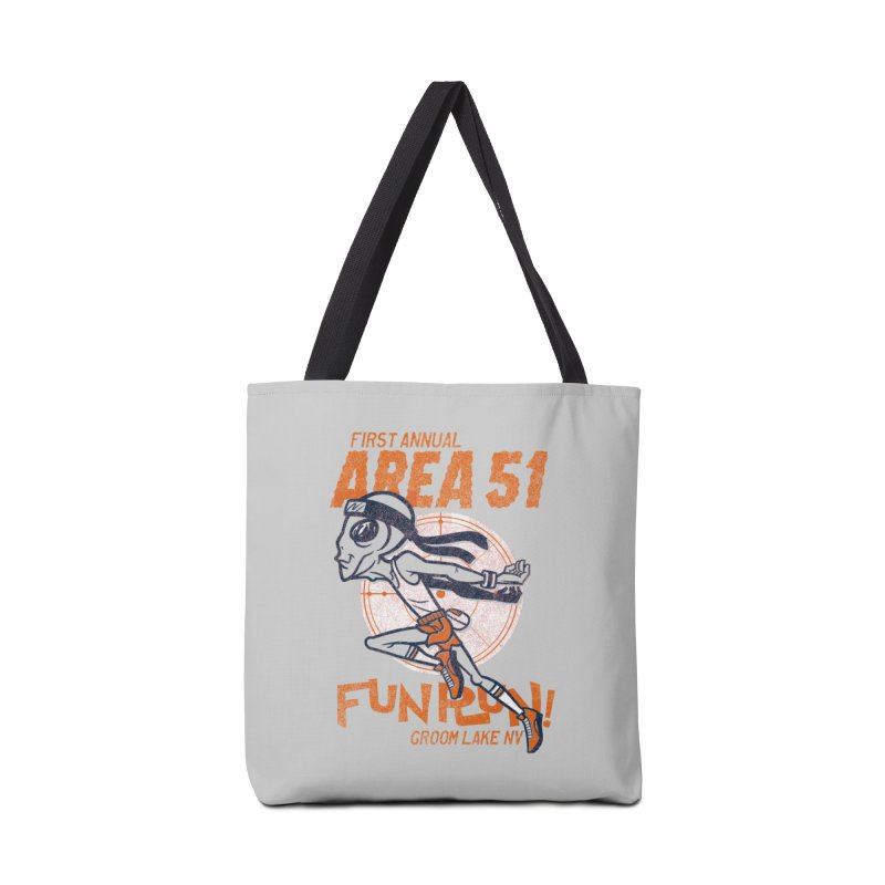 Area 51 Fun Run! Accessories Tote Bag Bag by Gimetzco's Damaged Goods