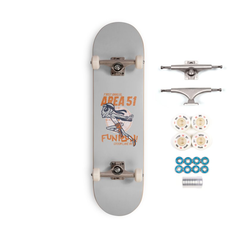 Area 51 Fun Run! Accessories Complete - Premium Skateboard by Gimetzco's Damaged Goods