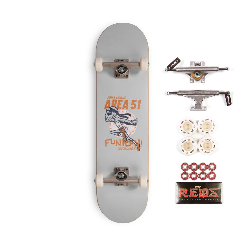 Area 51 Fun Run! Accessories Complete - Pro Skateboard by Gimetzco's Damaged Goods