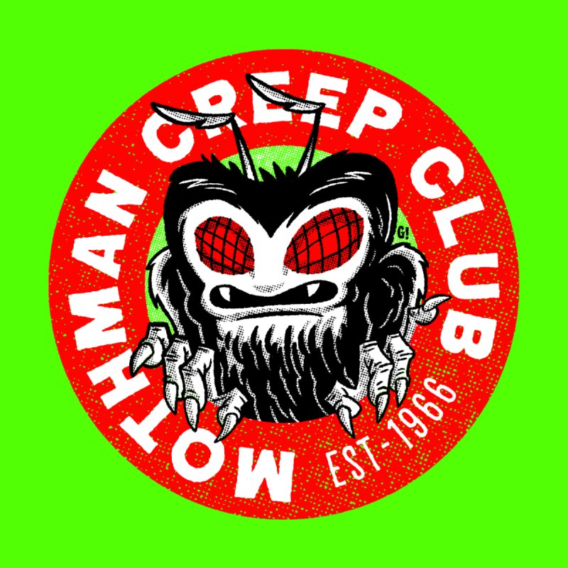 Mothman Creep Club Men's T-shirt by Gimetzco's Artist Shop