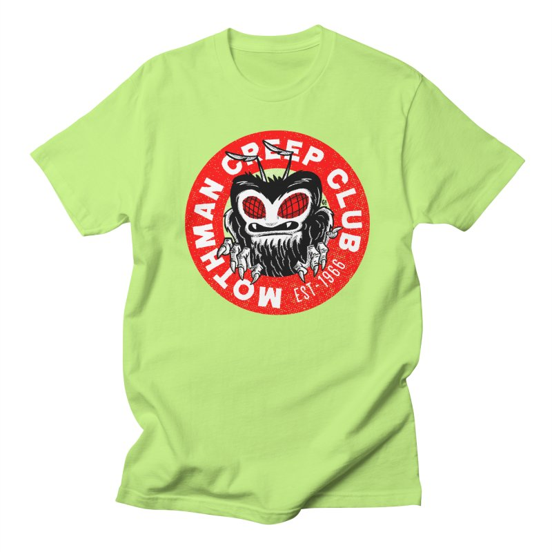 Mothman Creep Club in Men's T-shirt Neon Green by Gimetzco's Artist Shop