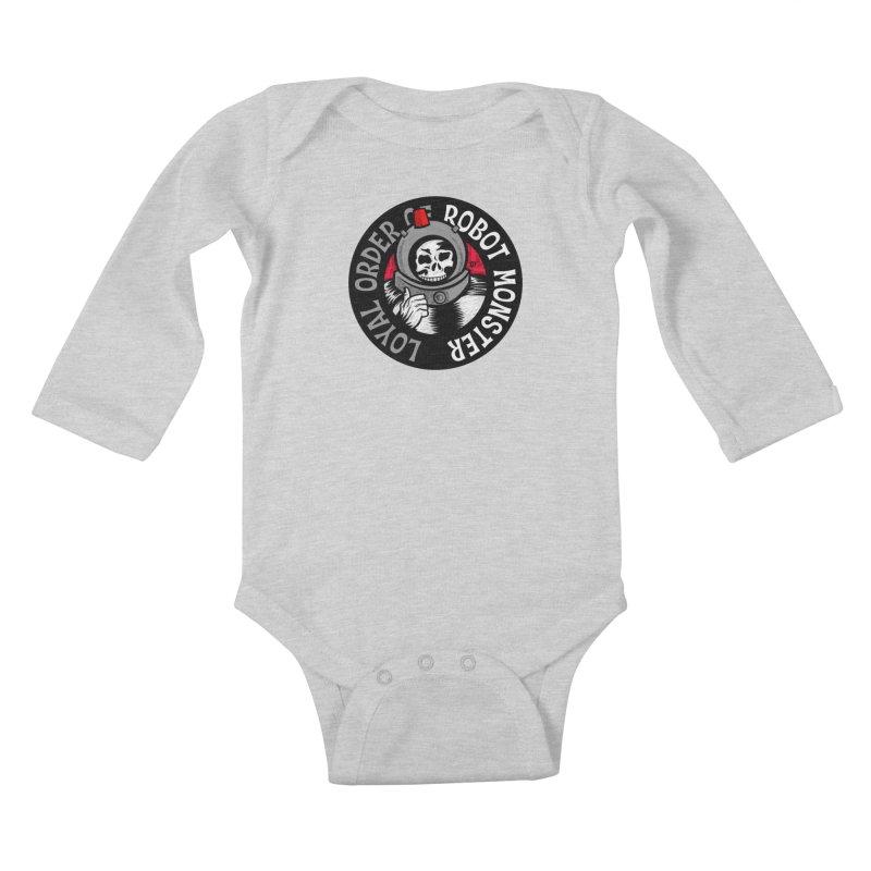 Loyal Order of Robot Monster Kids Baby Longsleeve Bodysuit by Gimetzco's Damaged Goods