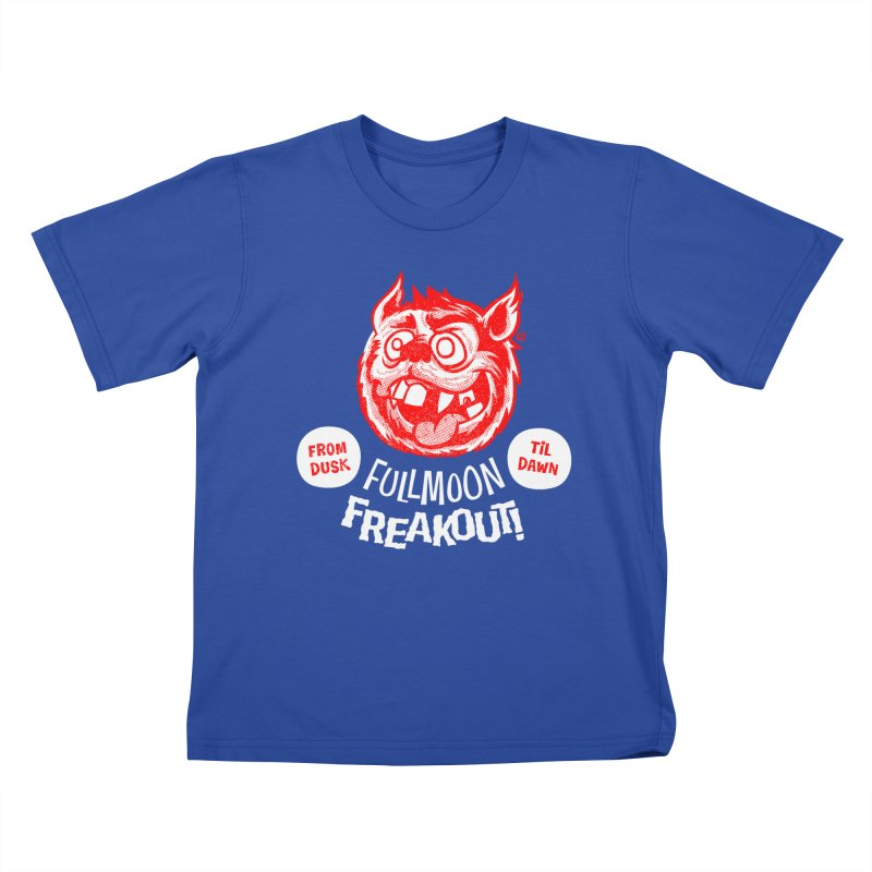 Fullmoon Freakout Kids T-Shirt by Gimetzco's Damaged Goods