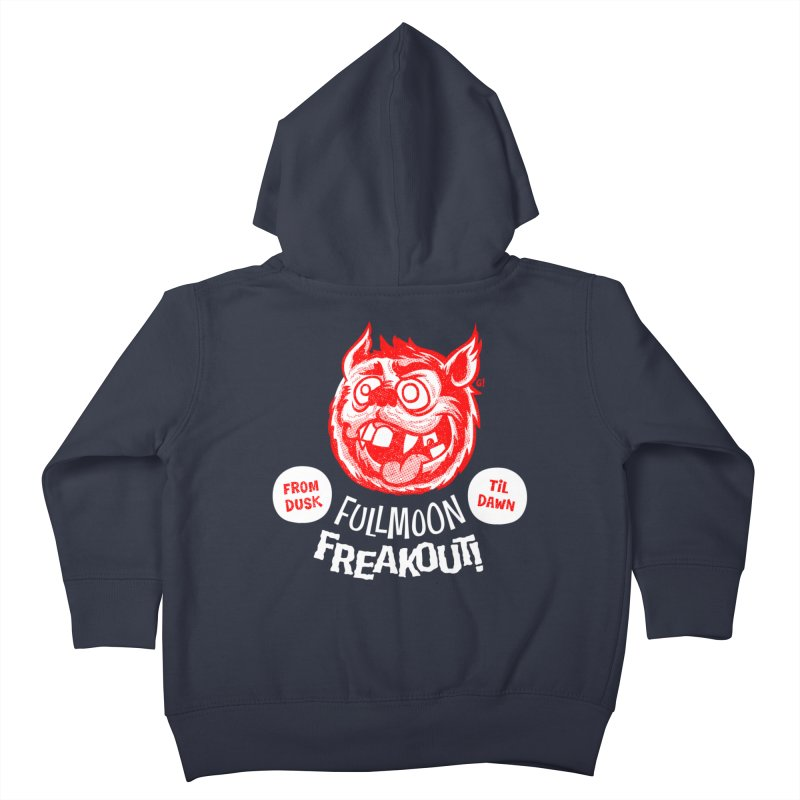 Fullmoon Freakout Kids Toddler Zip-Up Hoody by Gimetzco's Artist Shop