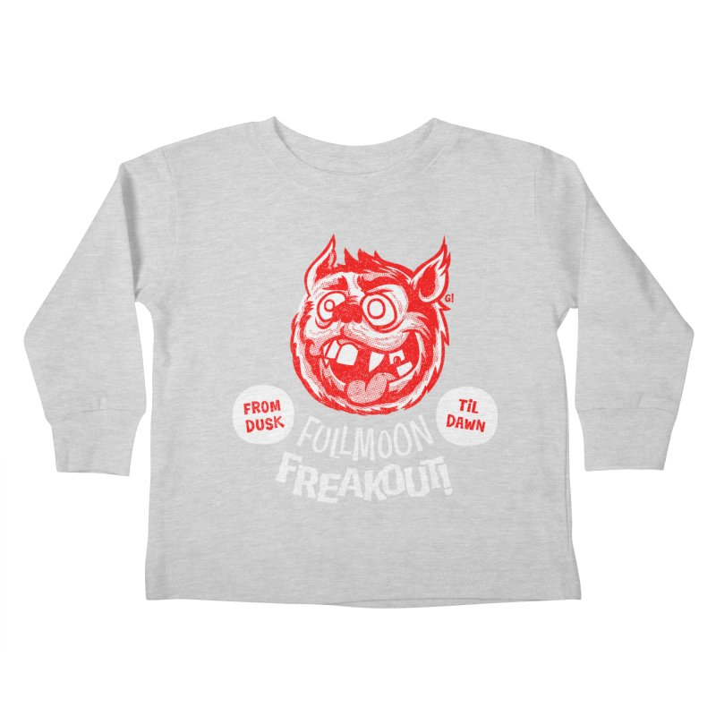 Fullmoon Freakout Kids Toddler Longsleeve T-Shirt by Gimetzco's Damaged Goods