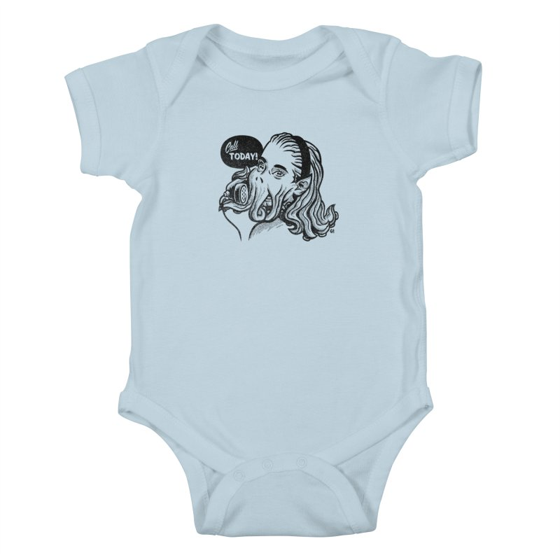 Callthulhu Kids Baby Bodysuit by Gimetzco's Damaged Goods