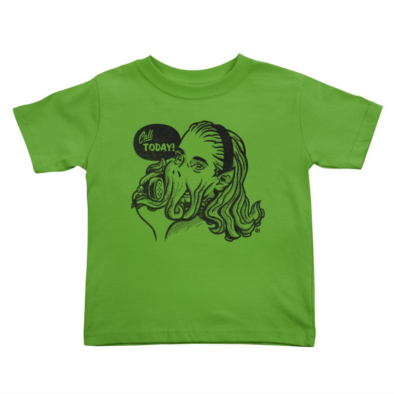 Callthulhu Kids Toddler T-Shirt by Gimetzco's Damaged Goods