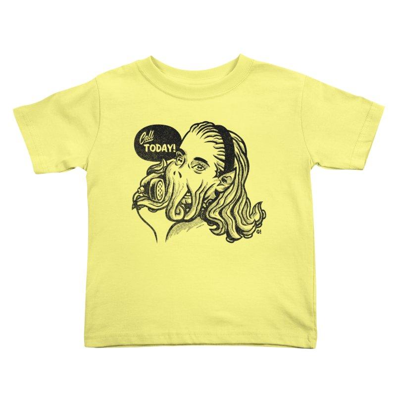 Callthulhu Kids Toddler T-Shirt by Gimetzco's Artist Shop