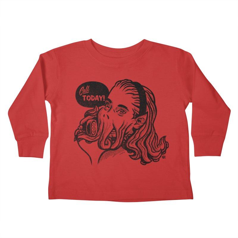 Callthulhu Kids Toddler Longsleeve T-Shirt by Gimetzco's Damaged Goods