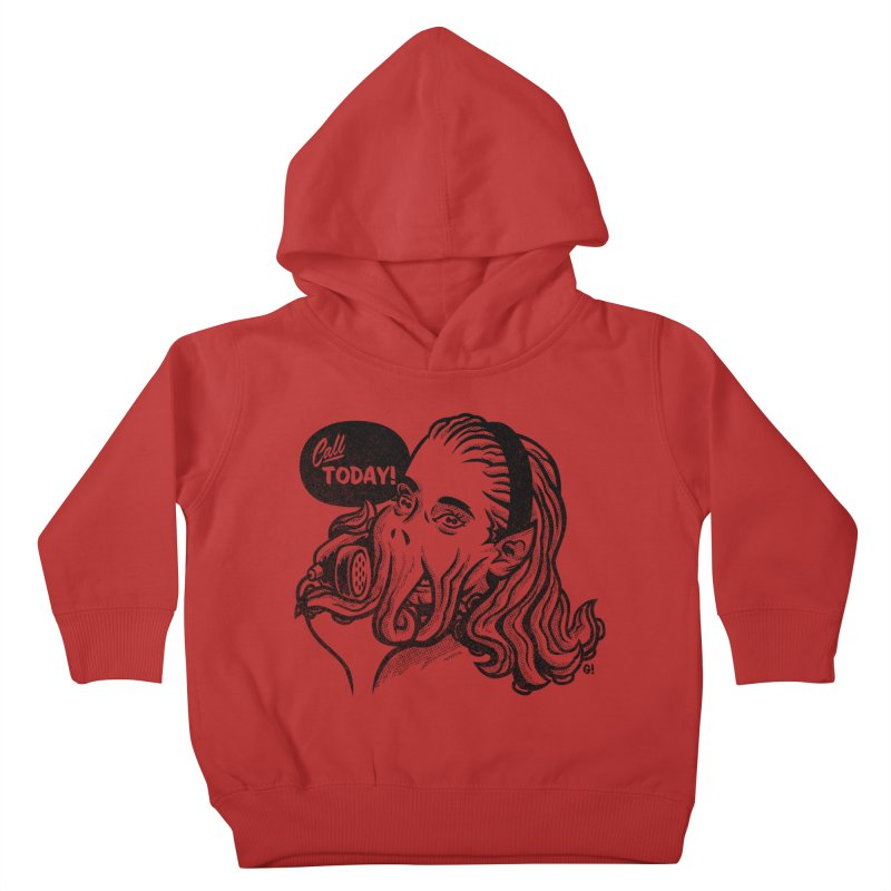 Callthulhu Kids Toddler Pullover Hoody by Gimetzco's Damaged Goods