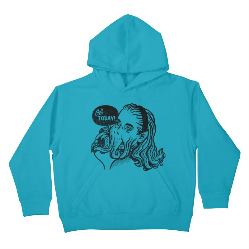 Callthulhu Kids Pullover Hoody by Gimetzco's Damaged Goods