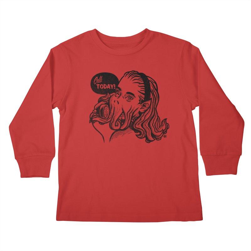 Callthulhu Kids Longsleeve T-Shirt by Gimetzco's Damaged Goods