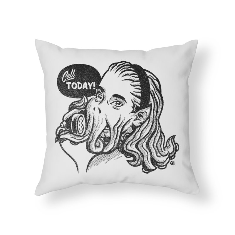 Callthulhu Home Throw Pillow by Gimetzco's Damaged Goods