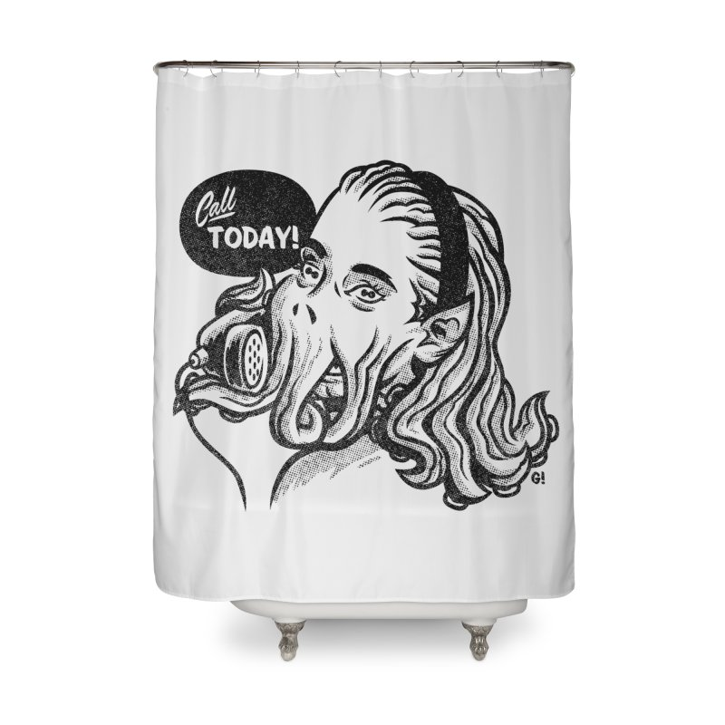 Callthulhu Home Shower Curtain by Gimetzco's Damaged Goods
