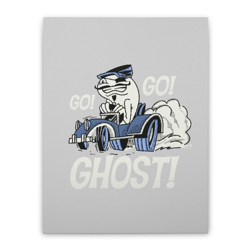 Go! Go! Ghost! Home Stretched Canvas by Gimetzco's Artist Shop