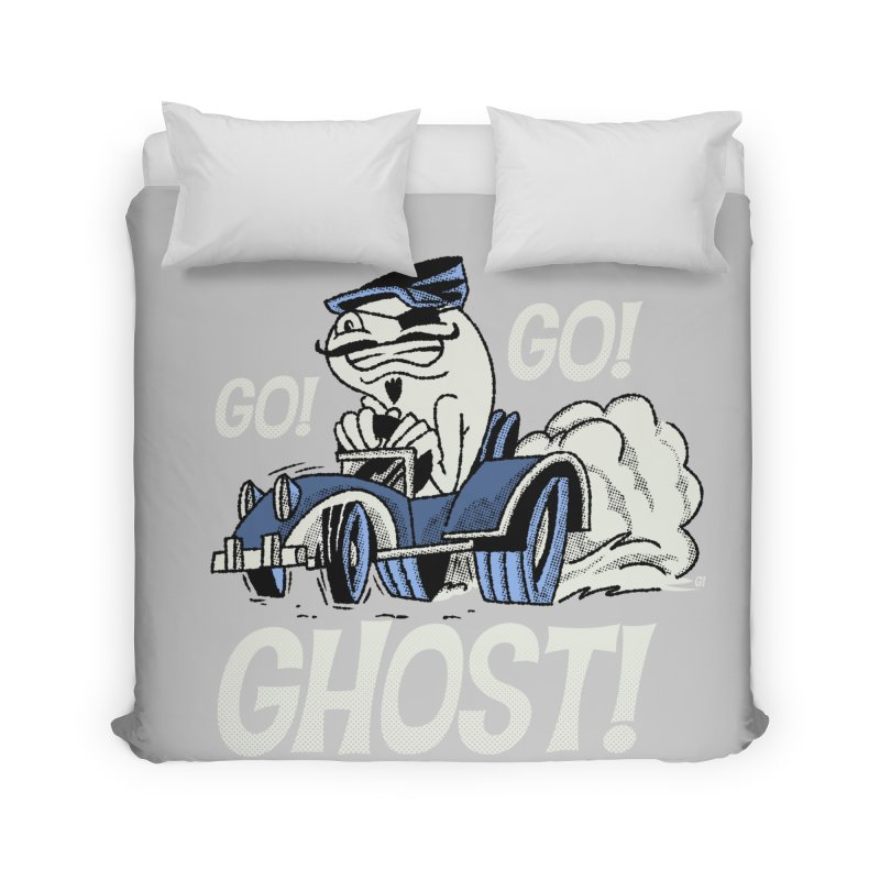 Go! Go! Ghost! Home Duvet by Gimetzco's Damaged Goods