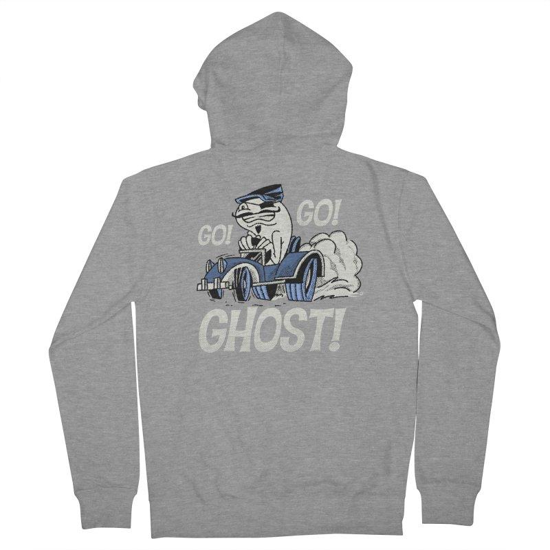 Go! Go! Ghost! Men's Zip-Up Hoody by Gimetzco's Artist Shop