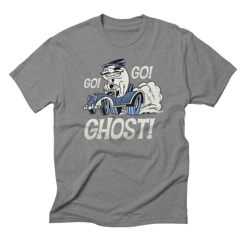 Go! Go! Ghost! Men's Triblend T-Shirt by Gimetzco's Artist Shop