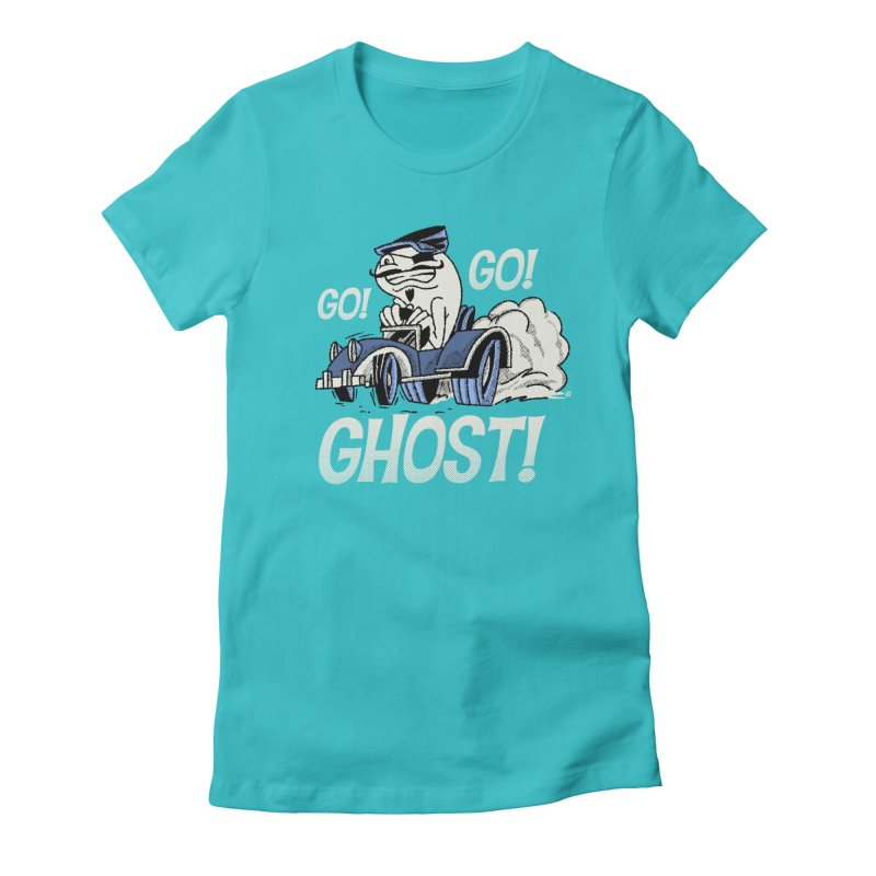 Go! Go! Ghost! Women's Fitted T-Shirt by Gimetzco's Artist Shop