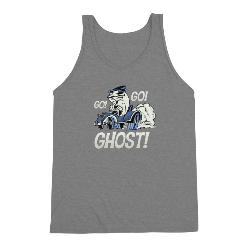Go! Go! Ghost! Men's Triblend Tank by Gimetzco's Artist Shop