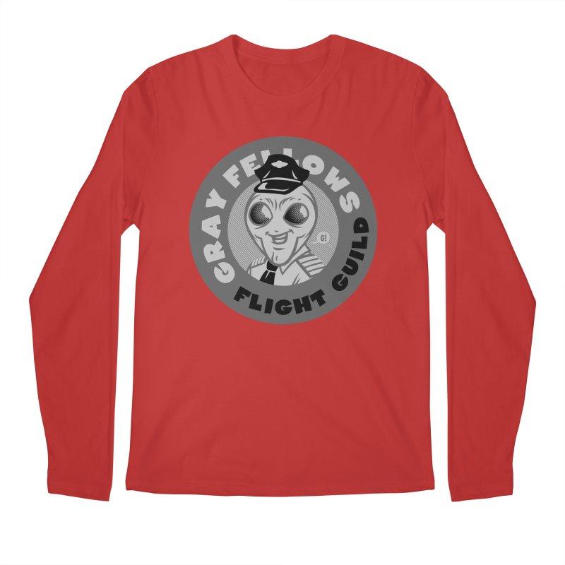 GRAY FELLOWS FLIGHT GUILD Men's Longsleeve T-Shirt by Gimetzco's Artist Shop