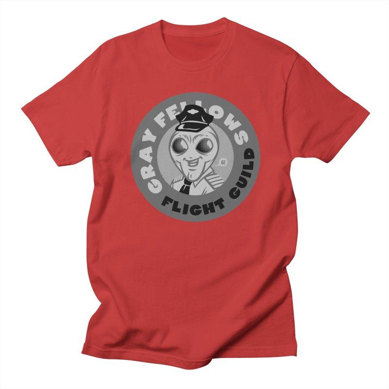 GRAY FELLOWS FLIGHT GUILD Men's T-Shirt by Gimetzco's Artist Shop