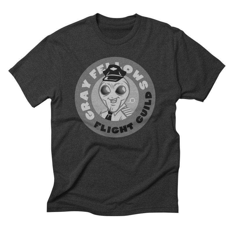 GRAY FELLOWS FLIGHT GUILD Men's Triblend T-Shirt by Gimetzco's Artist Shop