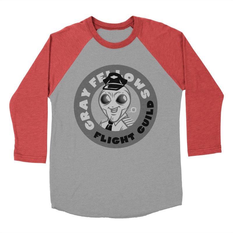 GRAY FELLOWS FLIGHT GUILD Women's Baseball Triblend T-Shirt by Gimetzco's Artist Shop