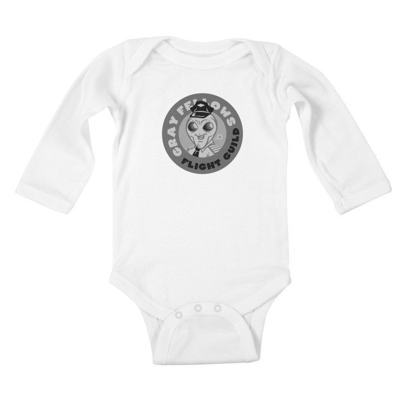 GRAY FELLOWS FLIGHT GUILD Kids Baby Longsleeve Bodysuit by Gimetzco's Artist Shop