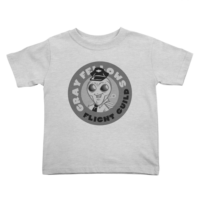 GRAY FELLOWS FLIGHT GUILD Kids Toddler T-Shirt by Gimetzco's Artist Shop