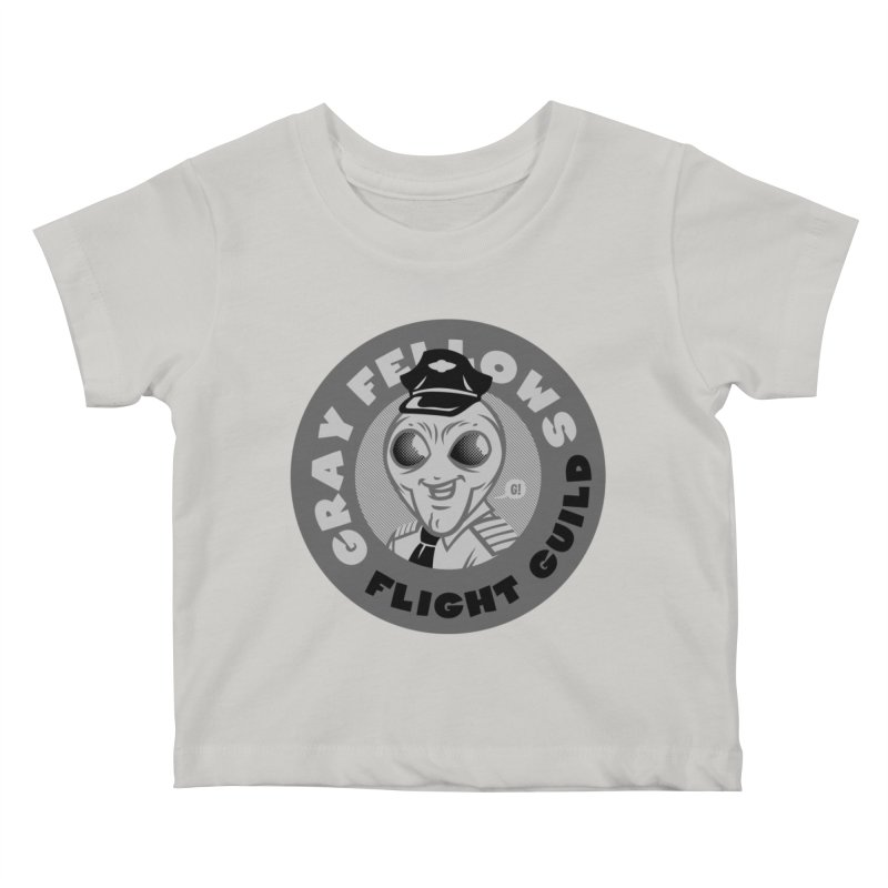 GRAY FELLOWS FLIGHT GUILD Kids Baby T-Shirt by Gimetzco's Artist Shop