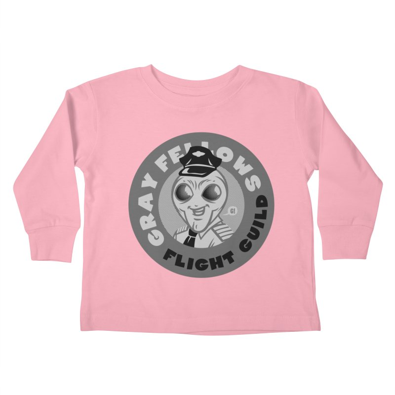 GRAY FELLOWS FLIGHT GUILD Kids Toddler Longsleeve T-Shirt by Gimetzco's Damaged Goods