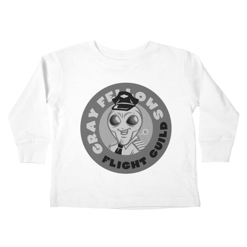 GRAY FELLOWS FLIGHT GUILD Kids Toddler Longsleeve T-Shirt by Gimetzco's Damaged Goods