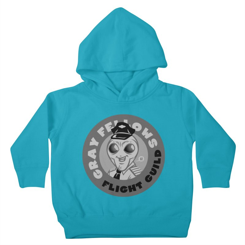 GRAY FELLOWS FLIGHT GUILD Kids Toddler Pullover Hoody by Gimetzco's Artist Shop