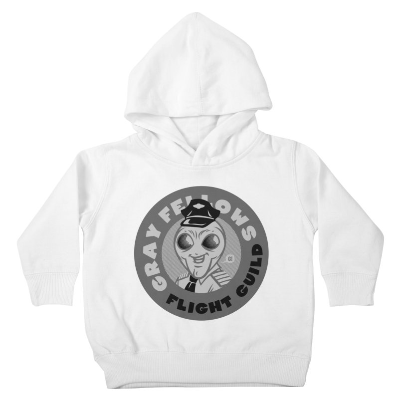 GRAY FELLOWS FLIGHT GUILD Kids Toddler Pullover Hoody by Gimetzco's Damaged Goods