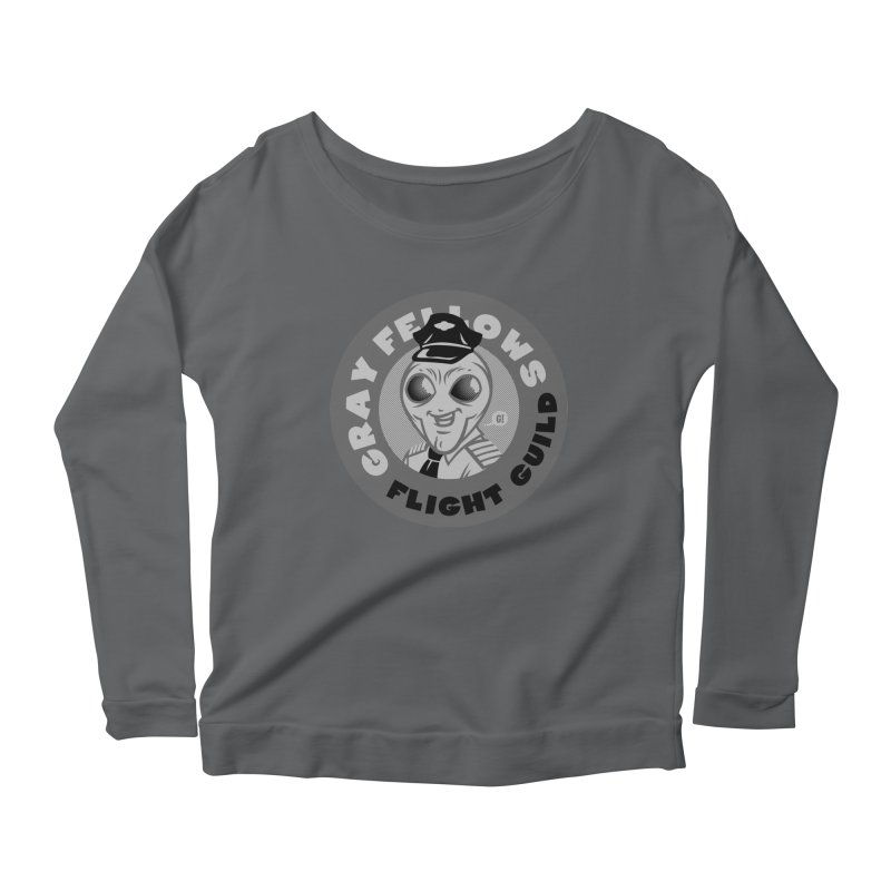 GRAY FELLOWS FLIGHT GUILD Women's Longsleeve Scoopneck  by Gimetzco's Artist Shop