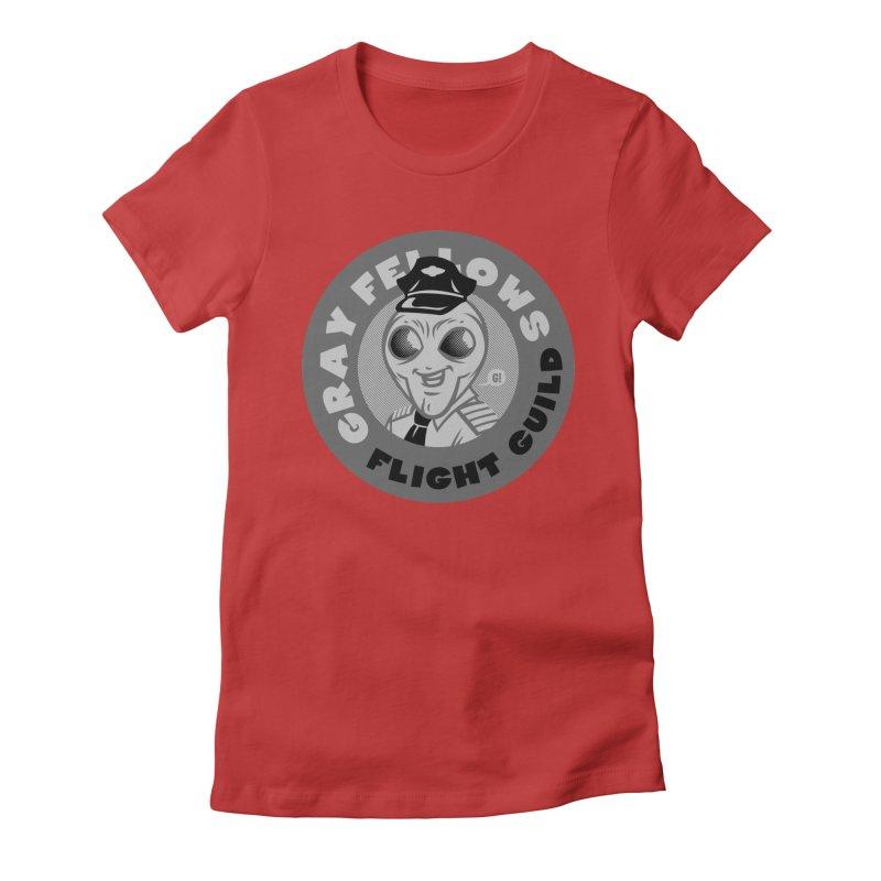 GRAY FELLOWS FLIGHT GUILD Women's Fitted T-Shirt by Gimetzco's Artist Shop