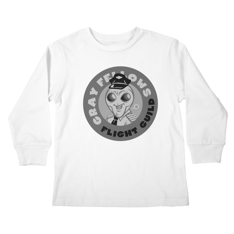 GRAY FELLOWS FLIGHT GUILD Kids Longsleeve T-Shirt by Gimetzco's Artist Shop