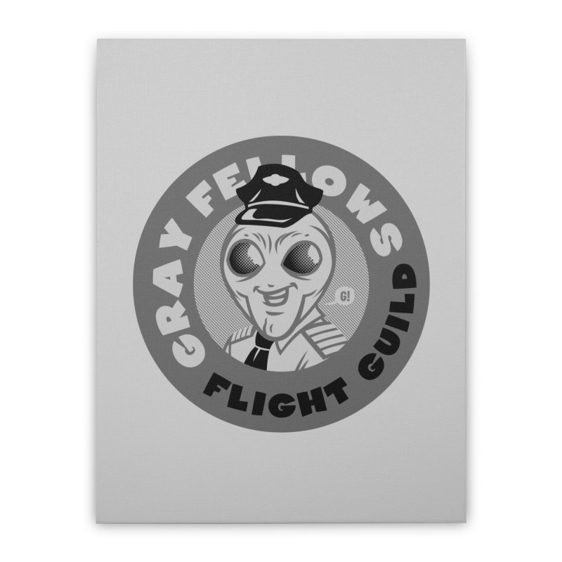 GRAY FELLOWS FLIGHT GUILD Home Stretched Canvas by Gimetzco's Artist Shop